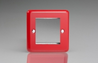 Varilight 2 Gang Data Grid Face Plate For 2 Data Module Widths Classic Lily Pillar Box Red
