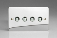 Varilight V-Pro IR Series 4 Gang Slave Unit for use with V-Pro IR Master Dimmers Ultra Flat Polished Chrome