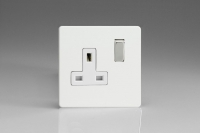 Varilight 1 Gang 13 Amp Double Pole Switched Socket Screwless Premium White