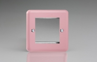 Varilight 2 Gang Data Grid Face Plate For 2 Data Module Widths Classic Lily Rose Pink