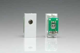 Z2G8W Varilight PAL Coax Female Module in White. Use with Varilight Data Grid Plates