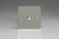 Varilight V-Pro IR Series 1 Gang 0-100 Watts Master Trailing Edge LED Dimmer Ultra Flat Brushed Steel