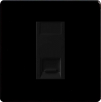 Varilight 1 Gang Black Telephone Master Socket Screwless Premium Black