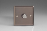 Varilight V-Pro Series 1 Gang 0-120W Trailing Edge LED Dimmer Pewter
