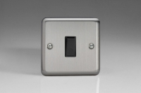 Varilight 1 Gang 10 Amp Switch Classic Brushed Steel