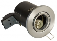 FGGSDC Fire Rated Downlight GU10 Tilt - Satin Chrome - Diecast (This Matches With Varilight's Brushed Steel Ranges)