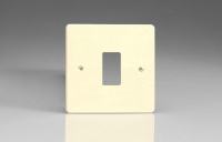 Varilight 1 Gang Power Grid Faceplate Including Power Grid Frame Dimension White Chocolate