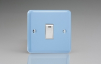 Varilight 1 Gang 20 Amp Double Pole Switch with Neon Classic Lily Duck Egg Blue