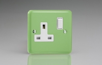 Varilight 1 Gang 13 Amp Double Pole Switched Socket Classic Lily Beryl Green