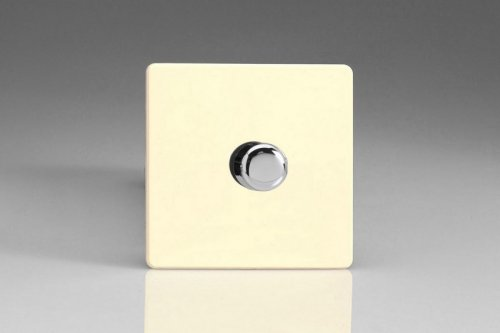 Varilight V-Dim Safety Series 1 Gang 200-1000 Watt Dimmer Screwless White Chocolate Effect Finish
