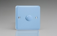 Varilight non-dimming 'Dummy' Series switch 1 Gang 0-1000 Watt Duck Egg Blue