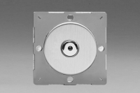 Varilight European Brushed Steel VariGrid V-Pro IR Series 1 Gang Multi-Way 0-100 Watts LED Trailing Edge Master Dimmer
