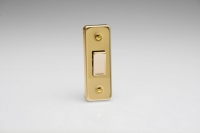 XVA1D Varilight 1 Gang, 1 or 2 Way 10 Amp Architrave Switch, Polished Brass Effect