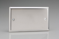 Varilight Double Blank Plate Classic Polished Chrome