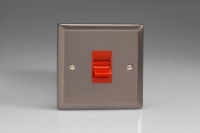 Varilight 45 Amp Double Pole Cooker Switch Classic Pewter