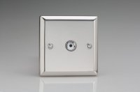 ICI401M-CL Varilight 1 Gang, 1 or 2 Way or Multi-way 400 Watt Touch/Remote Master Dimmer, Classic Polished Chrome