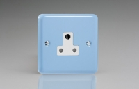 Varilight 1 Gang 5 Amp White Round Pin Socket 0-1150 Watts Classic Lily Duck Egg Blue