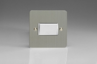 Varilight Fan Isolating 10 Amp Triple Pole Switch Ultra Flat Brushed Steel