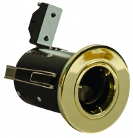 FGFBDC Fire Rated Downlight GU10 Fixed - Brass Effect - Diecast