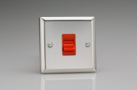 Varilight 45 Amp Double Pole Cooker Switch Classic Polished Chrome