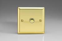 Varilight 1 Gang 6 Amp Momentary Push To Make Switch Classic Victorian Brass