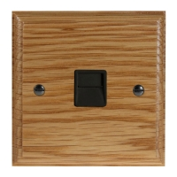 Classic 1Gang Telephone Secondary Socket in Solid Oak
