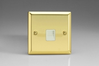 Varilight 1 Gang White Telephone Slave Socket Classic Victorian Brass