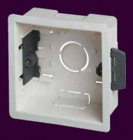 WPLBOXS35 Plastic 1 Gang Single Dry Lining (Plasterboard) Wall Box 35mm deep [Electrician's Choice]