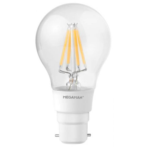Megaman (146731) 5.5W Filament Classic Dimming B22 2700K Warm White