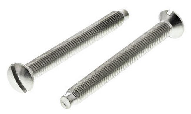 30mm Silver Fixing Screws, 2 Per Pack