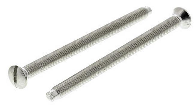 50mm Silver Fixing Screws, 2 Per Pack