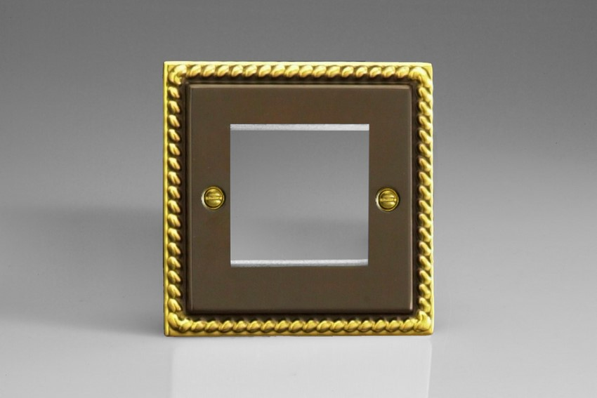 XAG2 Varilight Single Size Data Grid Face Plate For 2 Data Modules Classic Antique Georgian
