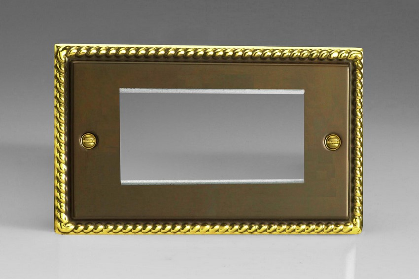 XAG4 Varilight Double Size Data Grid Face Plate For 3 or 4 Data Modules, Classic Antique Georgian (Double Plate)