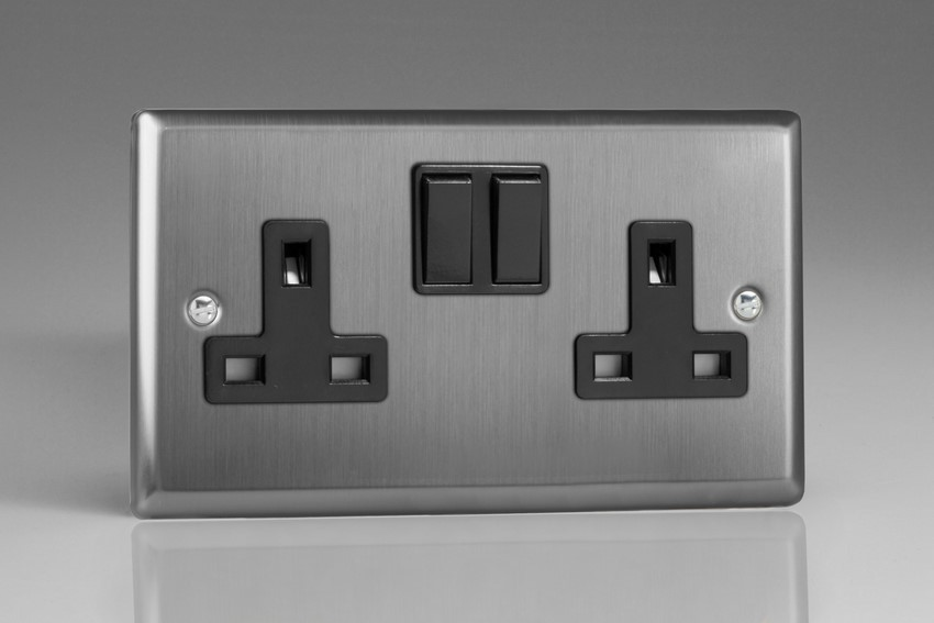 15x 2 Gang Double Sockets 13 Amp White Double Twin Switched Double Wall Socket
