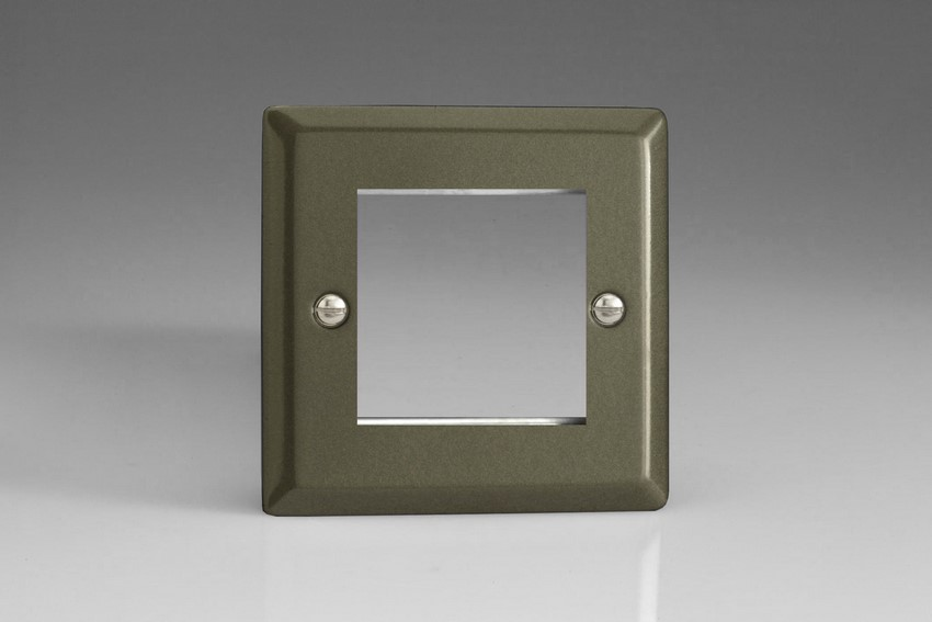 XPG2 Varilight Single Size Data Grid Face Plate For 2 Data Modules, Classic Georgian Graphite 21