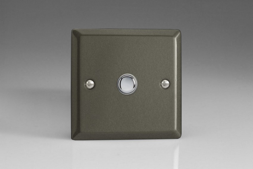 XPP1 Varilight 1 Gang (Single) 1 or 2 way 6 Amp Push-on Push-off Switch (impulse), Classic Graphite 21
