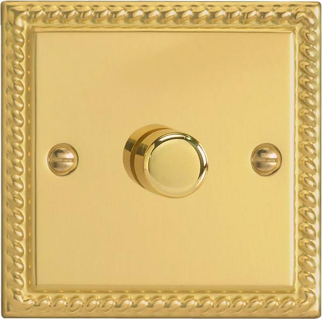 HG0-B Varilight Non-dimming 'Dummy' Series module, 1 or 2 Way Up To 1000 Watt, this is a Bespoke item, Classic Georgian Brass