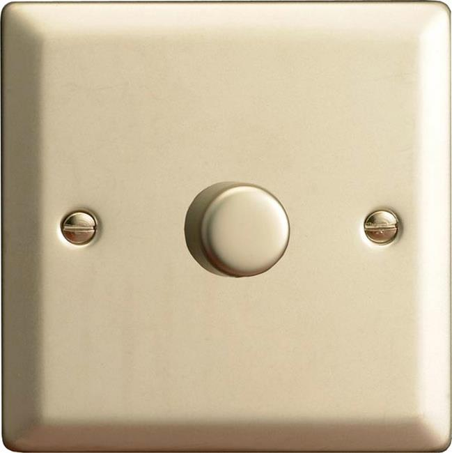 HN0-B Varilight Non-dimming 'Dummy' Series module, 1 or 2 Way Up To 1000 Watt, this is a Bespoke item, Classic Satin Chrome