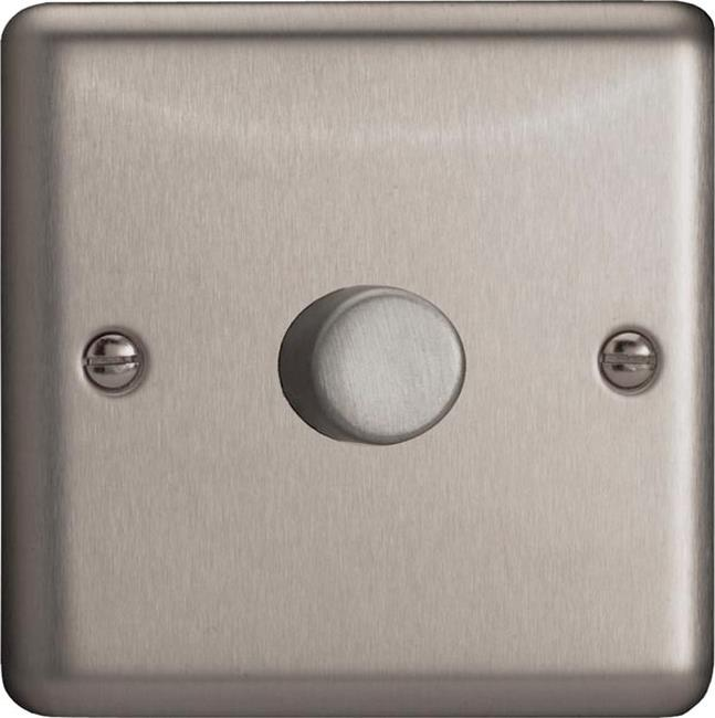 HS0-B Varilight Non-dimming 'Dummy' Series module, 1 or 2 Way Up To 1000 Watt, this is a Bespoke item, Classic Brushed Steel