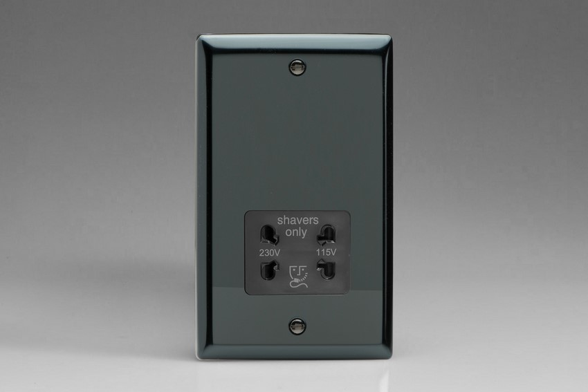 XISSB Varilight Dual Voltage Shaver Socket, Classic iridium Black