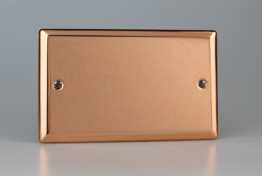 XYDB.CU Varilight 2 Gang (Double), Blank Plate, Classic Polished Copper (Double Plate)