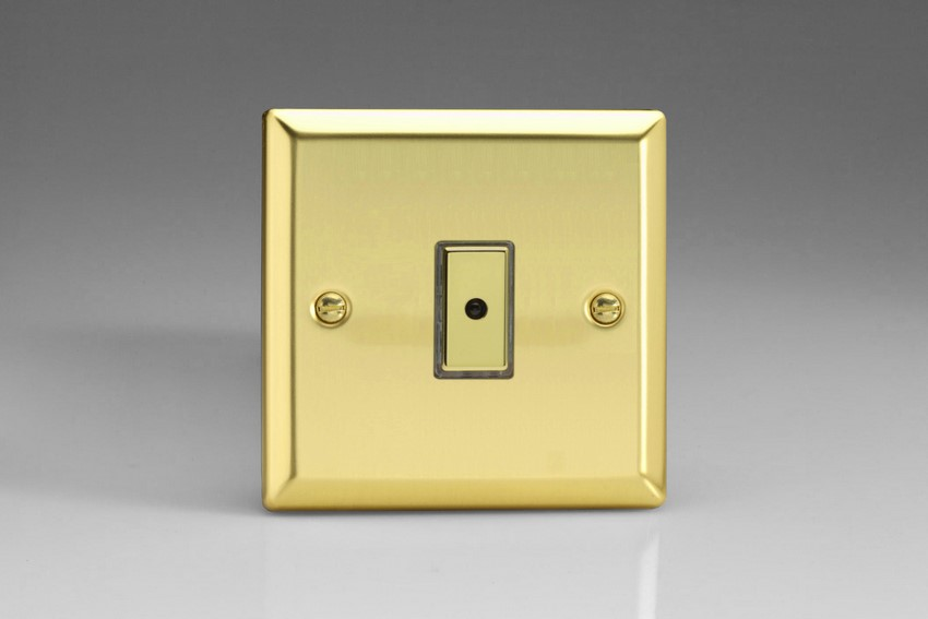 Varilight V-Pro Multi Point Remote (MPR or Eclique2) Series 1 Gang 0-100 Watts Multi Point Remote Master LED Dimmer Victorian Brass