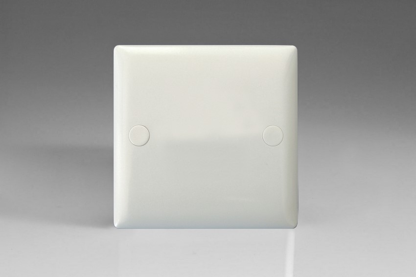 XOSB-P Varilight 1 Gang (Single), Blank Plate, White Moulded Bevel