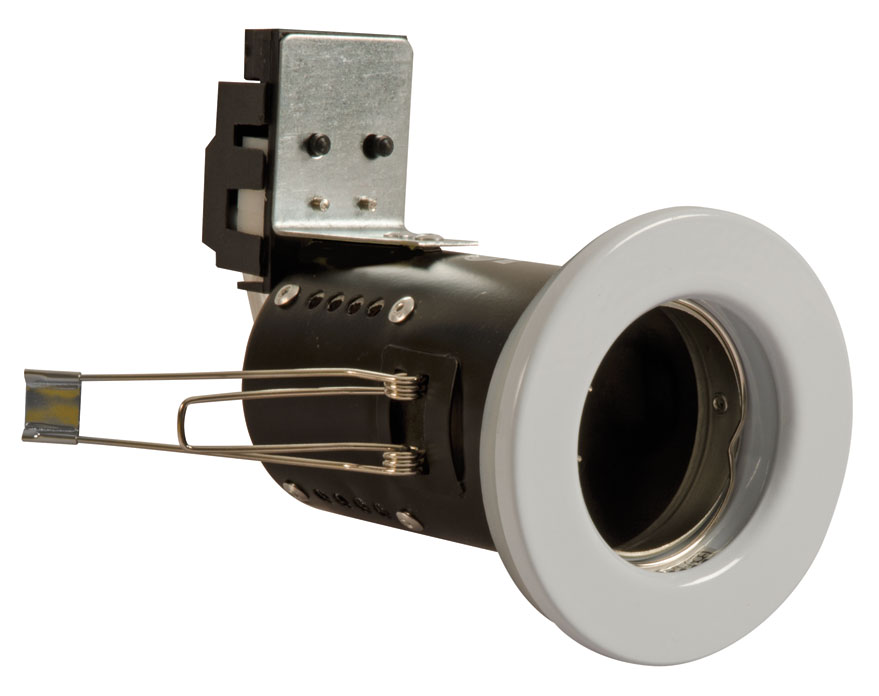 Fire Resistant Wall Spacers : Fgfw fire rated downlight gu fixed white