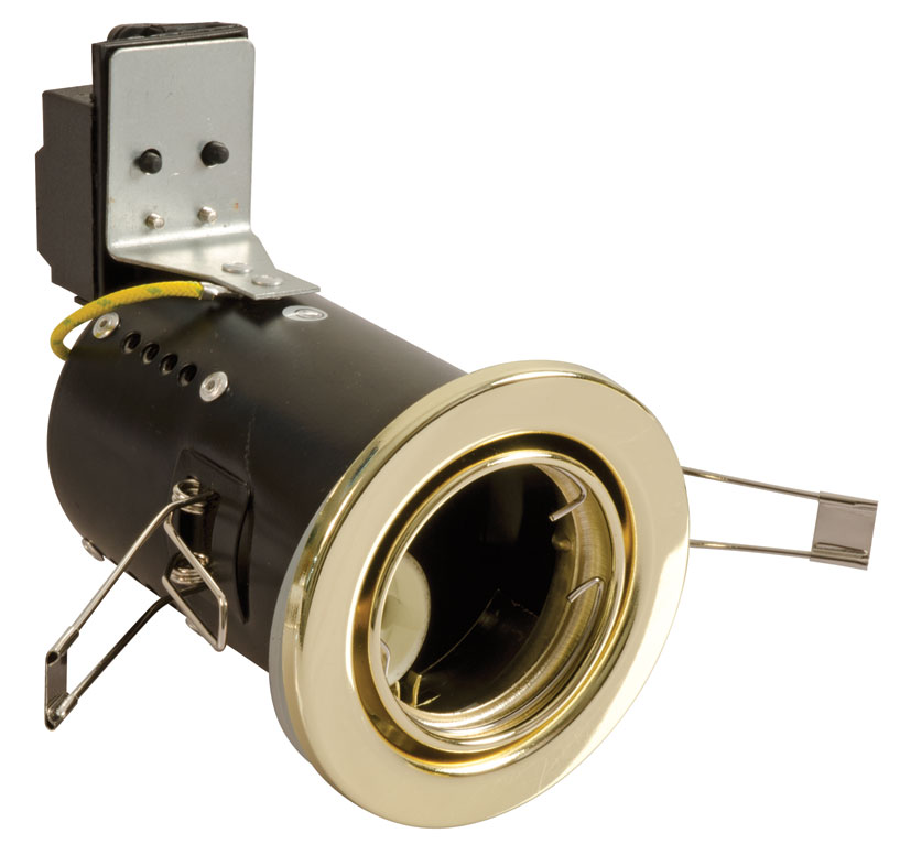 FGGB-1 Fire Rated Downlight GU10 Tilt - Brass