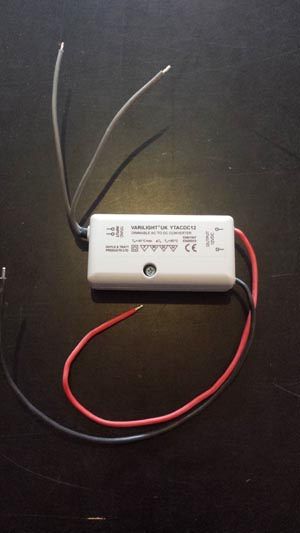 YTACDC Varilight - AC/DC Converter for 12V d.c LED Strips and Lamps.