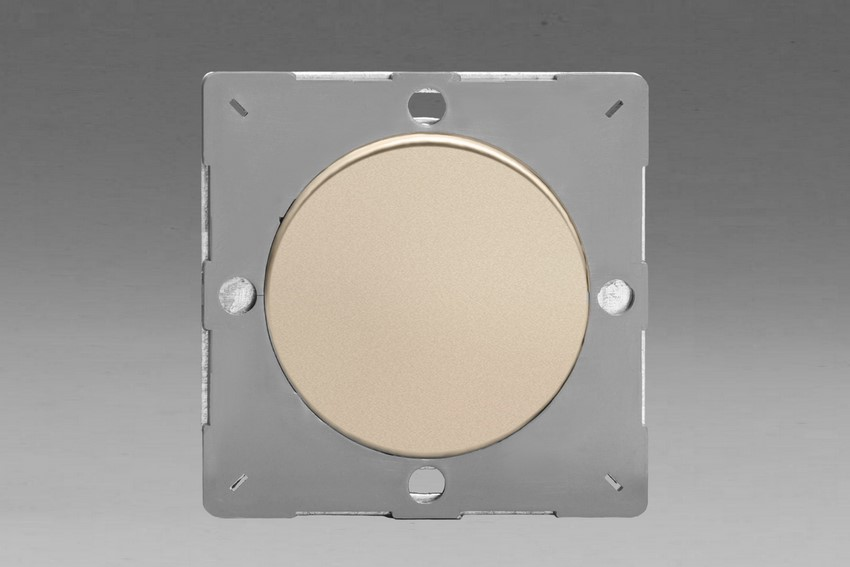 Z1EGBN-P Varilight European VariGrid 1 gang Blank Plate, for use with VariGrid Single, Double and Triple Faceplates