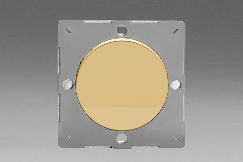 Z1EGBV-P Varilight European VariGrid 1 gang Blank Plate, for use with VariGrid Single, Double and Triple Faceplates