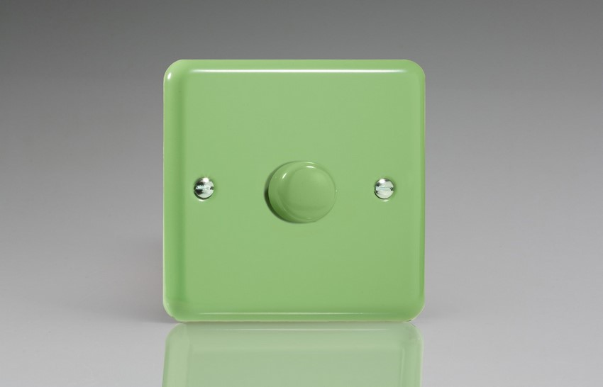 IYP1001.BG Varilight V-Plus Series 1 Gang 1 or 2 Way 1000 Watt/VA Dimmer, Classic Lily Beryl Green