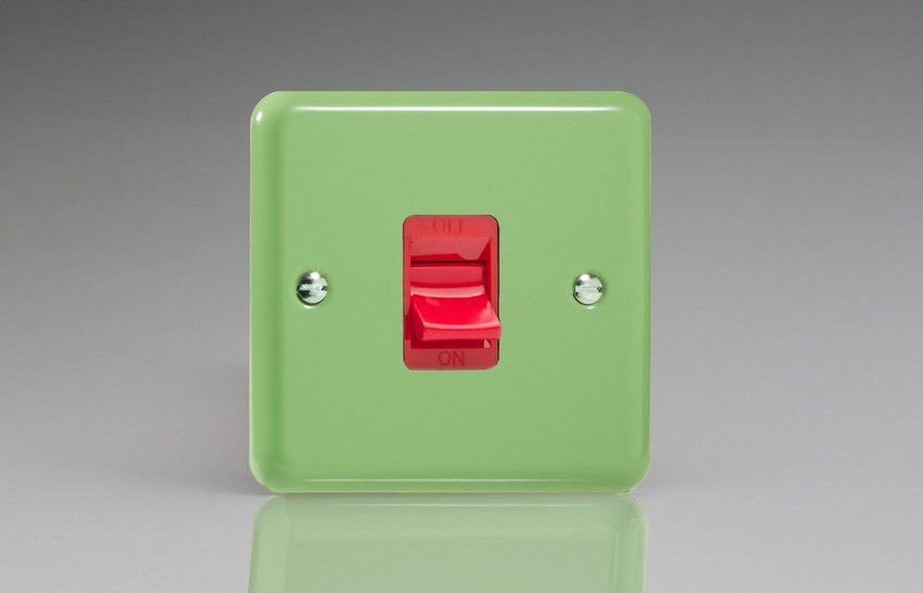 XY45S.BG Varilight 45 Amp Cooker Switch (Single Size), Classic Lily Beryl Green